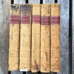 5 volumes set, full sheep. Leather labels on spine with title stamped in gold.