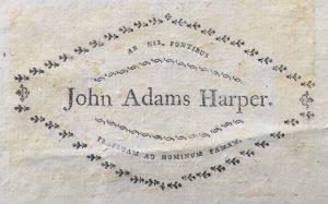 John Harper Adams ex-libris